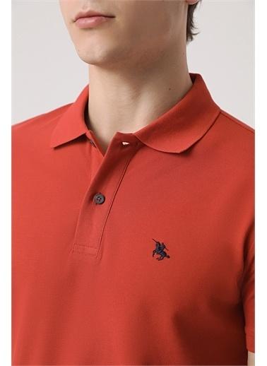 D'S Damat Ds Damat Regular Fit Vizon Pike Dokulu T-Shirt Kiremit